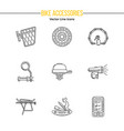active lifestyle outline icon set vector image vector image