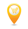 add to basket MAP pointer yellow vector image vector image