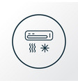 air condition icon line symbol premium quality vector image