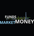 are money market funds for you text background vector image vector image