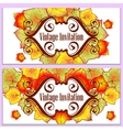 autumn leaves invitation vector image vector image