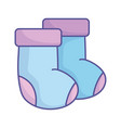 bashower blue socks clothing icon vector image