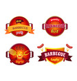 bbq party set icons barbecue vector image vector image