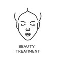 beauty treatment and facial treatment face vector image
