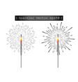bengali colorful or indian colored fire fireworks vector image vector image