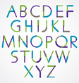 Blue-green font created with circles and lines vector image