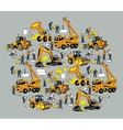 Building construction worker and equipment color vector image vector image