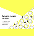 business card template in style memphis vector image vector image