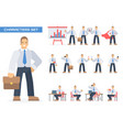 businessman working character vector image