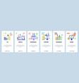 career website and mobile app onboarding screens vector image vector image