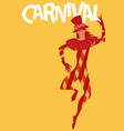carnival harlequin wearing top hat and joker vector image