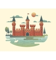 Castle design flat vector image