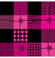 Checkered magenta patchwork vector image vector image