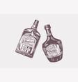 cheers toast vintage liquor badge glass bottle vector image vector image