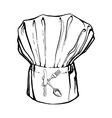 chefs hat with the letter K vector image vector image