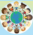 children in unity vector image