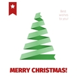 Christmas tree from folded ribbon vector image vector image