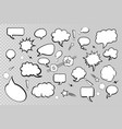 collection comic speech bubbles on transparent vector image vector image