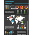 Detail business infographic vector image