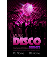 Disco background Disco poste vector image