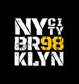 district new york brooklyn vector image vector image