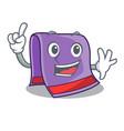 finger towel for bath mascot vector image