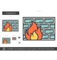 Firewall line icon vector image vector image