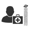 first aid man icon with men bonus vector image vector image
