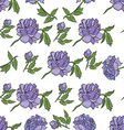 Floral seamless pattern with peony vector image