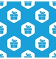 Gift box hexagon pattern vector image