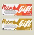 Gift Voucher Modern Template Design vector image vector image