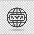 go to web icon internet flat for website on vector image vector image