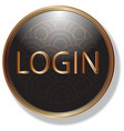 gold frame black web button and icon user interfac vector image vector image