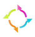 gradient circle arrows vector image