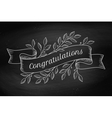 Greeting card with inscription Congratulations in vector image vector image
