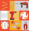 hand tool seamless pattern construction handtools vector image vector image