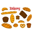 Healthy bakery and pastry sketches vector image vector image