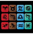 Horoscope iconsZodiac signs charactersSymbol of vector image vector image