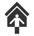 House Owner Wellcome Flat Icon vector image vector image