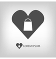 I love shopping logo vector image vector image