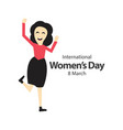 international womens day template design vector image vector image