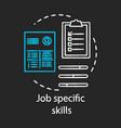 Job specific skills chalk concept icon