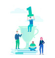 leadership - modern flat design style colorful vector image vector image