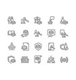 line court icons vector image