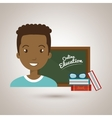 man student online education vector image