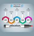 marker education icon business infographic vector image