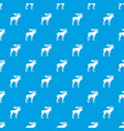 moose pattern seamless blue vector image vector image