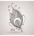 ornate intricate feather Doodle Zentangle vector image vector image