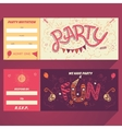 party hand-lettering invitation ticket vector image