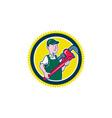 Plumber Monkey Wrench Rosette Cartoon vector image vector image